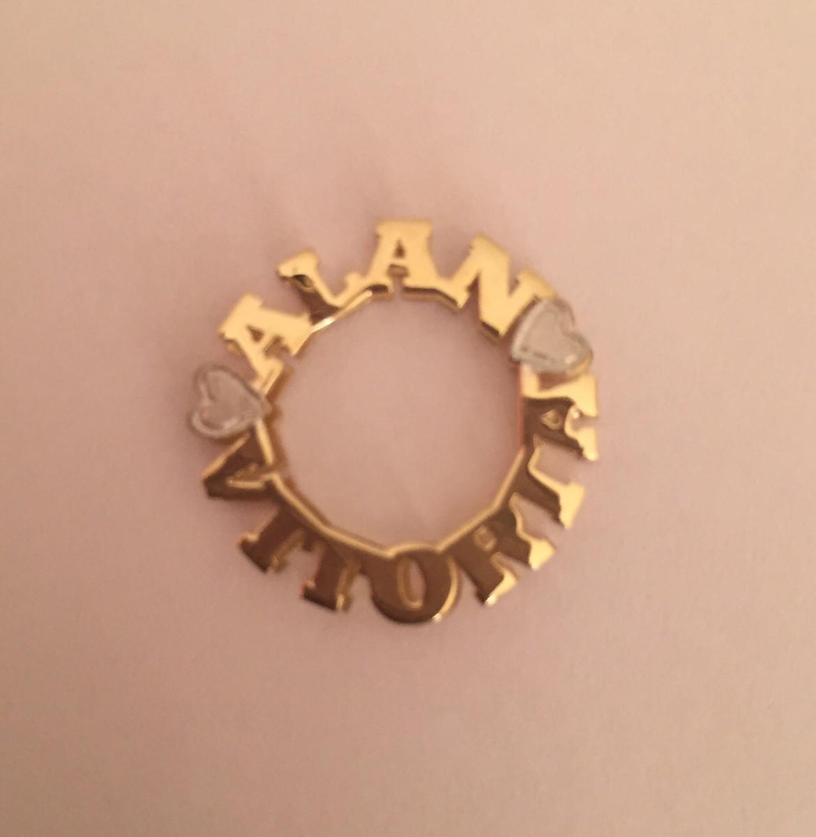 2d9ae462099be Pingente mandala de nomes ouro 18k no Elo7