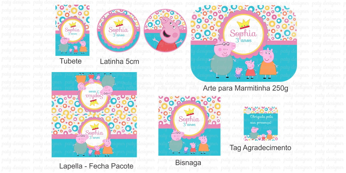 Zoom · Kit Festa Peppa Pig