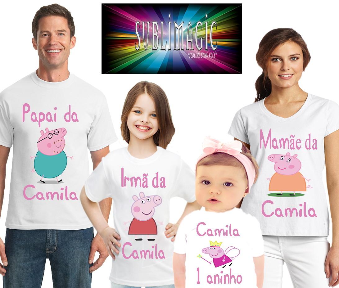 31a02311e Kit 4 Camisetas Pig no Elo7   SUBLIMAGIC (556F28)