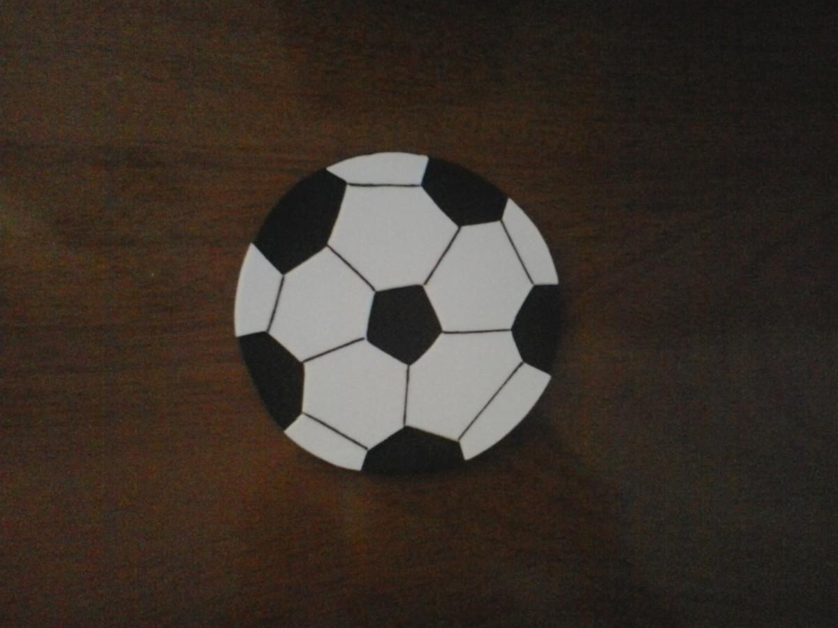 5c06f262ea Aplique bola de futebol EVA no Elo7