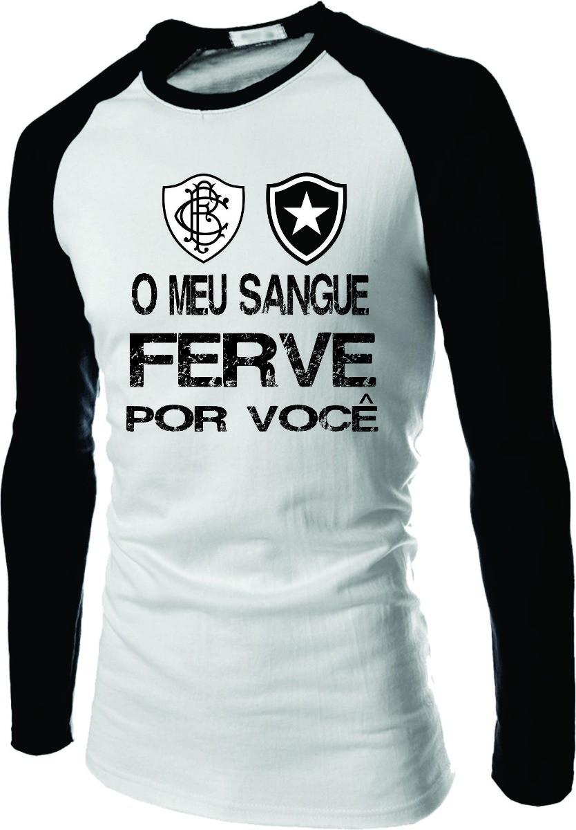 82df26aa1a Camiseta Botafogo Raglan Manga Longa Fog no Elo7