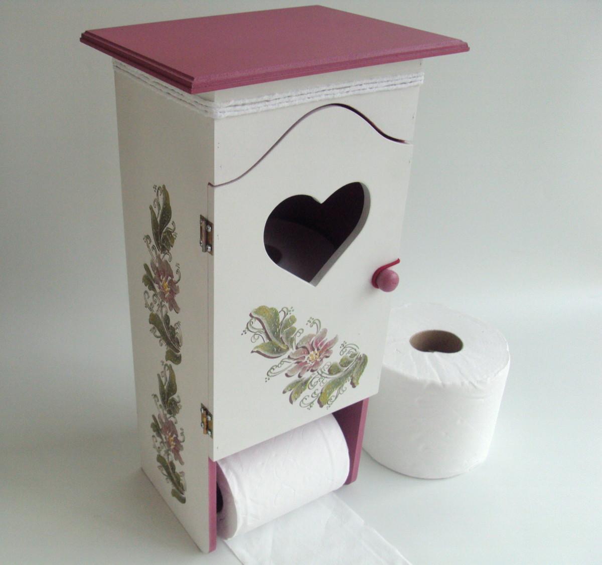 Porta papel higi nico atelier madeira e arte elo7 - Rollos de papel higienico decorados ...