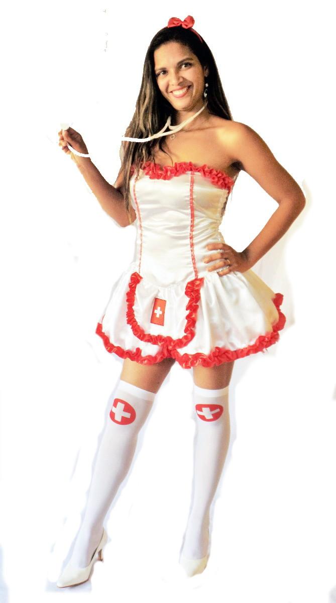 46408ce2b Fantasia Luxuosa Enfermeira Adulto no Elo7
