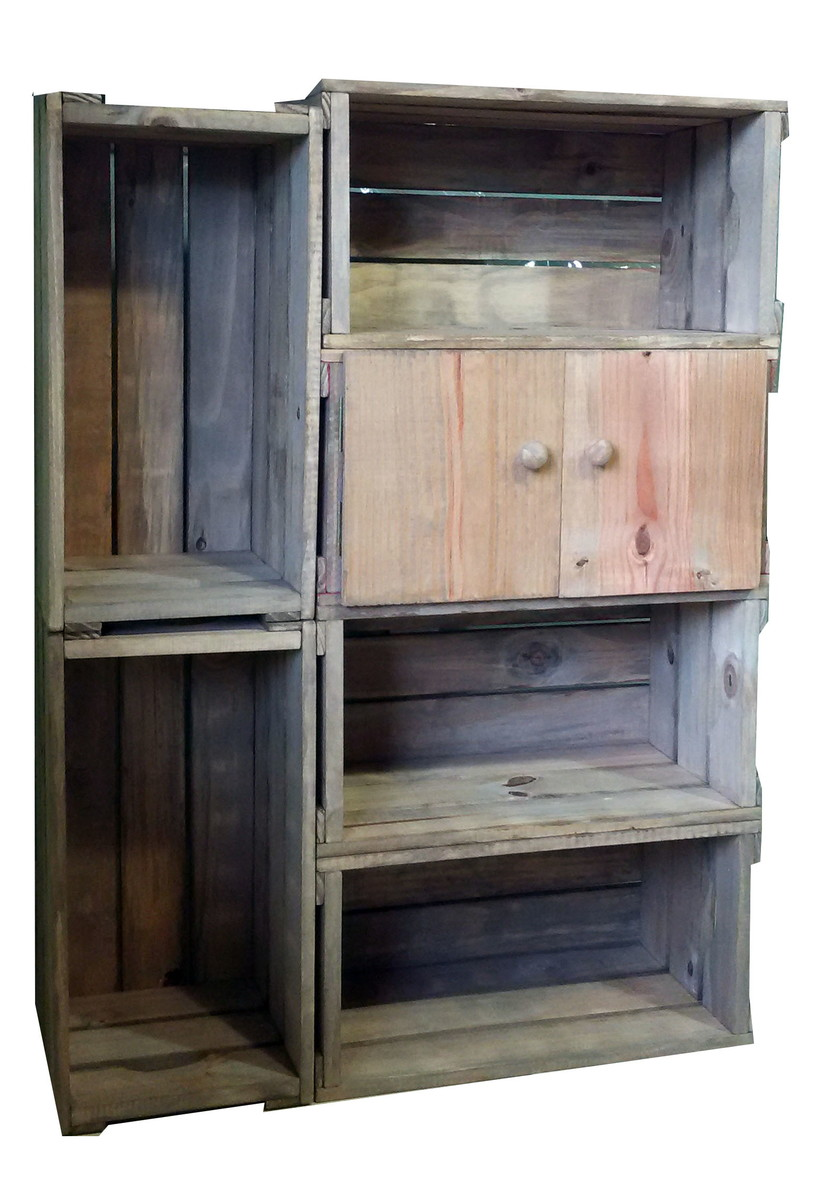 Arm rio 6 caixotes com uma porta caixaria m veis elo7 for Armario 6 portas