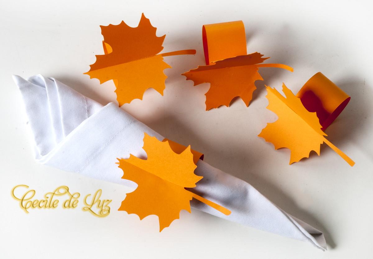 Porta guardanapo Outono no Elo7 Cecile de Luz Vitrines e interiores (567395) -> Decoração Festa Folhas De Outono