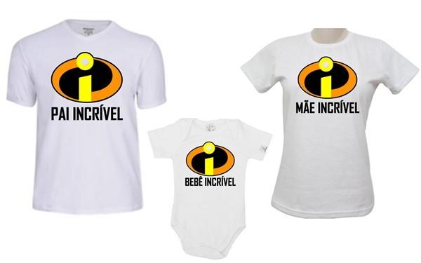 467827d8e206 Kit Body + 2 Camisetas papai, mãe e bebe