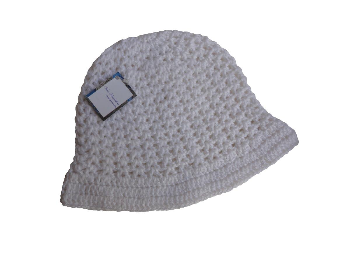 ce493d6b1bfac Chapéu de crochê em lã - adulto no Elo7