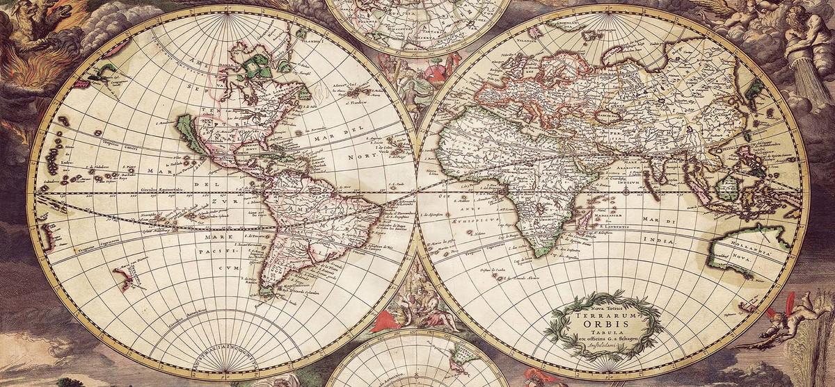 mapa mundo antigo Quadro Antigo Mapa Mundi no Elo7 | DeNucci Artesanato (56B723) mapa mundo antigo