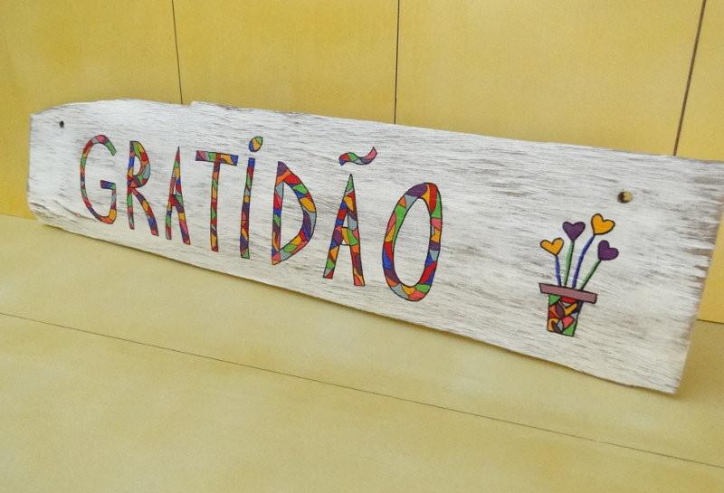 Placa Decorativa Gratidão No Elo7 Estúdio Lixa 56bd49