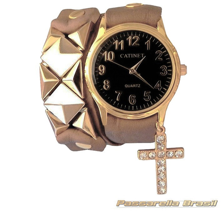 bd75b2103c4 Relógio Pulseira Em Couro Feminino no Elo7
