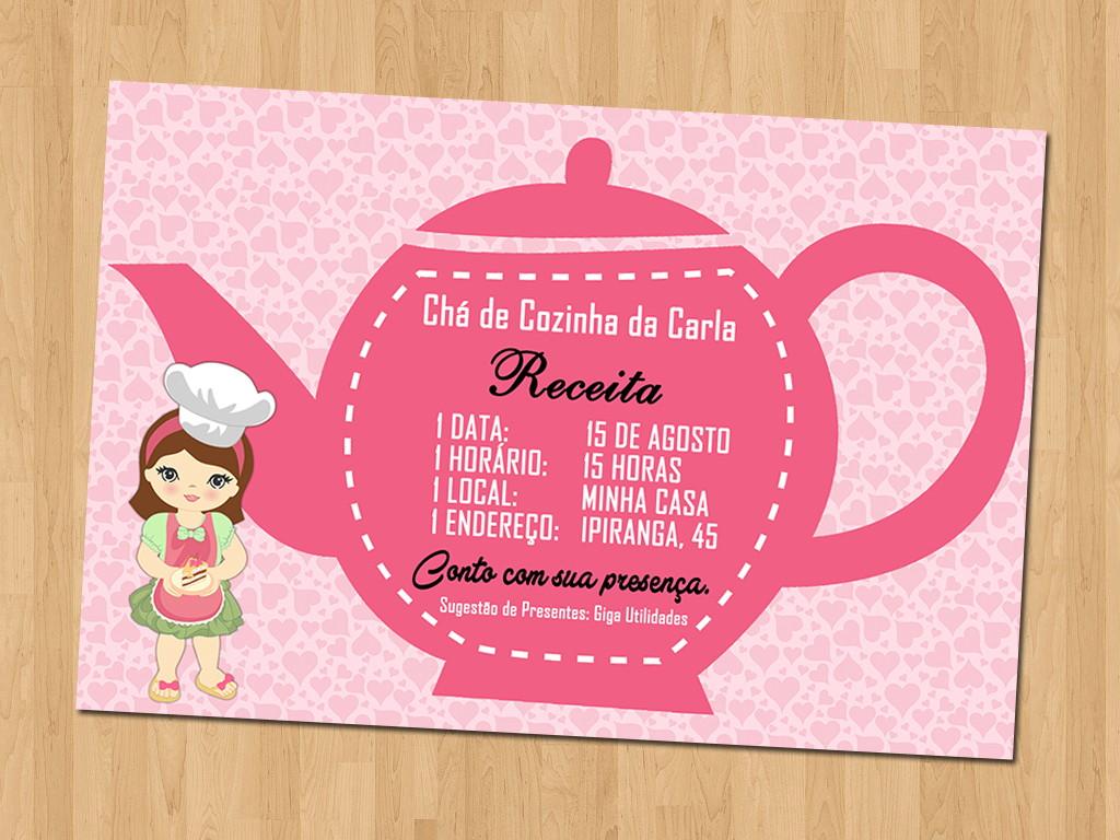 Convites   Chá de Cozinha no Elo10   Ideal Convites 51015F10