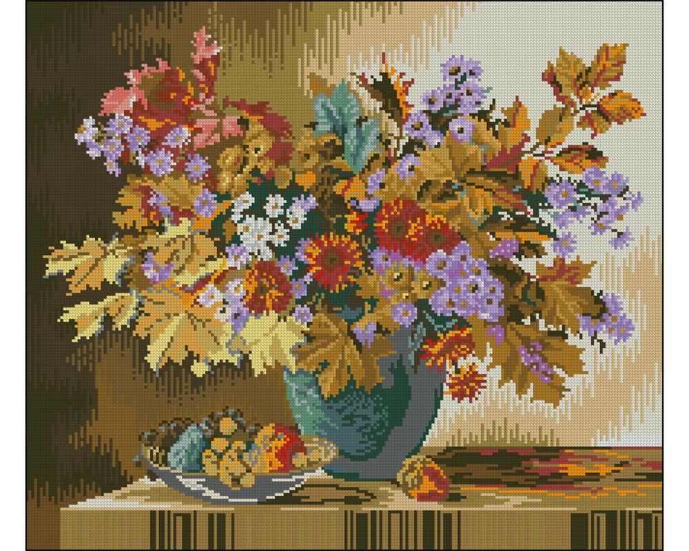 30d79e513 Flores de Outono - Gráfico Ponto Cruz no Elo7 | Thimage - Gráficos ...