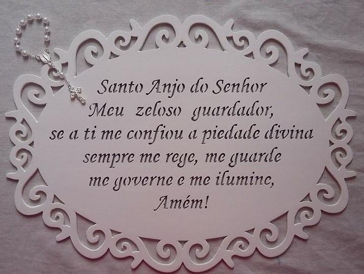 Well-known Quadro com Oração Anjo da Guarda no Elo7 | NOSSO ATELIE - ARTE E  XV41