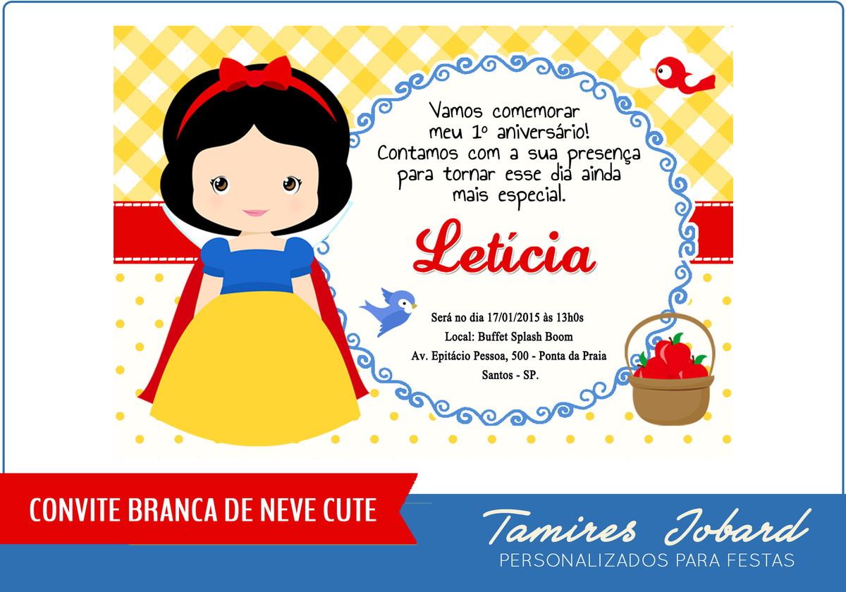 Convite Digital Branca De Neve No Elo7 Creative Paper Por Tamires