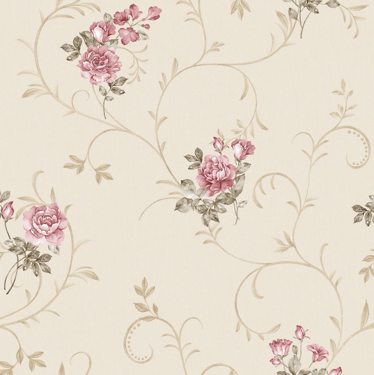 Papel De Parede Flores Florais Adcorista 444b47 No Elo7  -> Modelos De Papel De Parede Em Forma De Flores