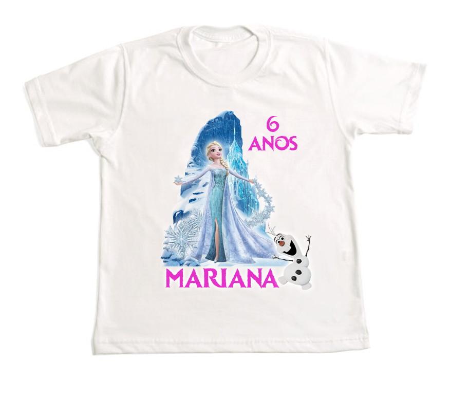 f4eb5924de Camiseta Personalizada Frozen no Elo7