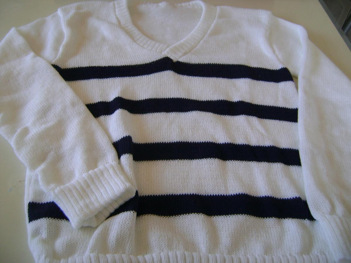 Blusa Feminina de tricô gola V no Elo7   Casinha de Lã enxoval ... ccc821677e