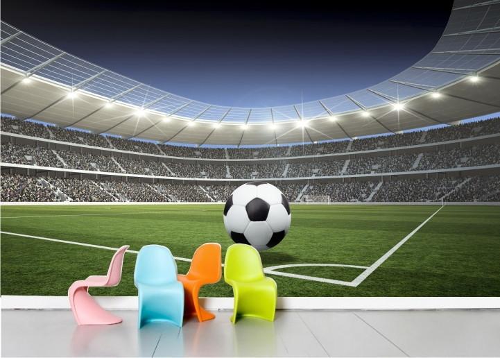 Esporte Tileable Papel De Parede Colorido: Adesivo Painel Infantil Futebol Mod.03 No Elo7