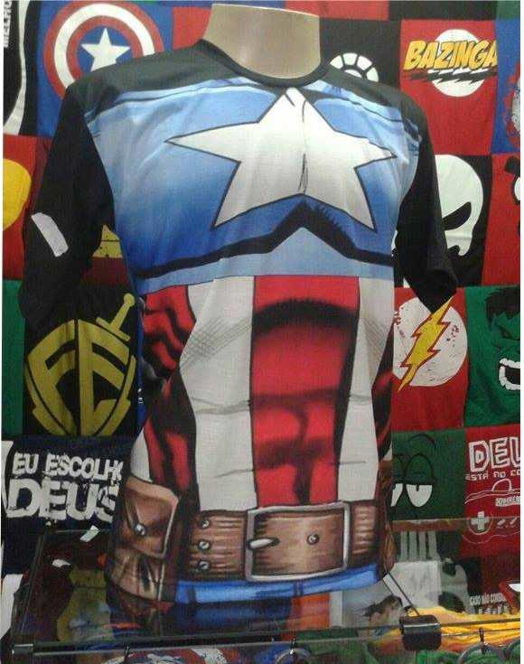 59f474c08d Camiseta Capitão América avengers no Elo7