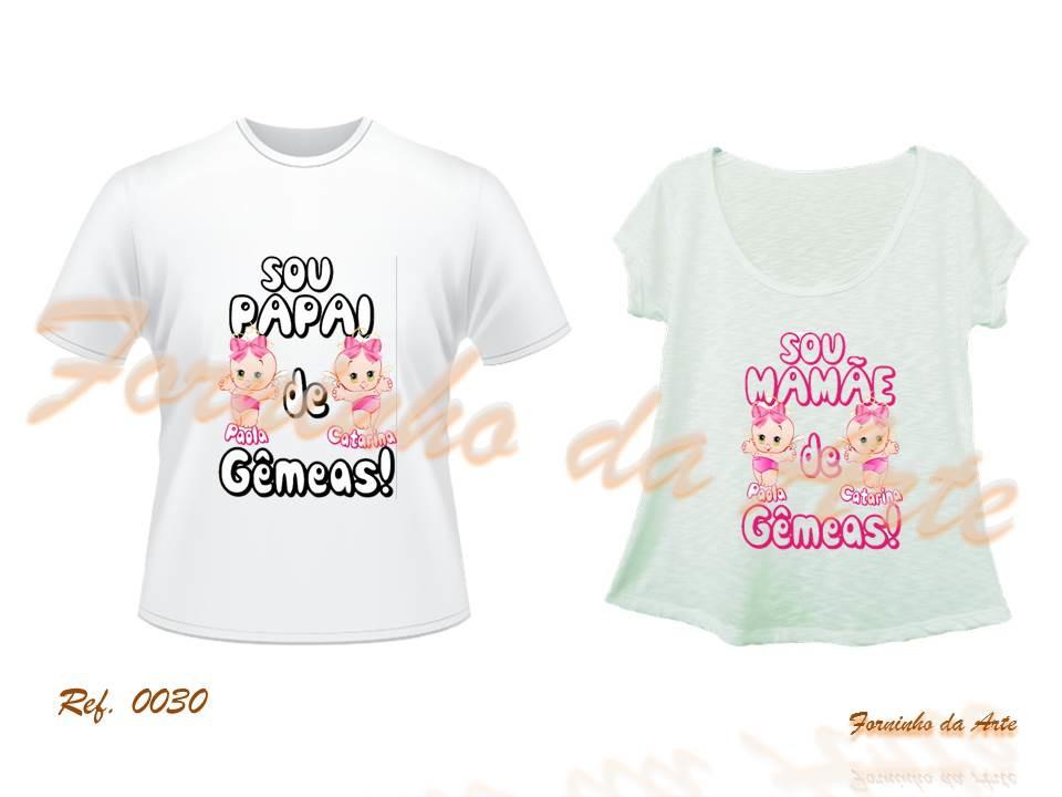 27ec6046f Camisetas Personalizadas Modelo Bata Kit no Elo7