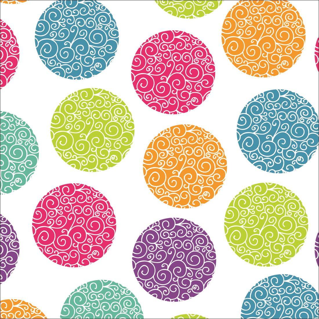 Papel de parede bolas coloridas decor 16 crie decore elo7 - Paredes de papel ...