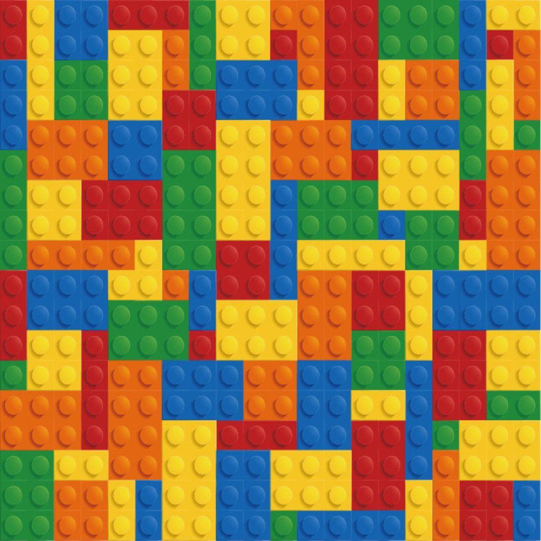 Papel de parede lego decor crie decore elo7 - Paredes de papel ...