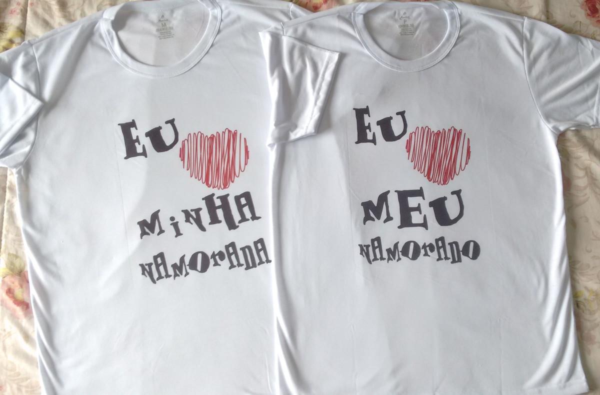5838437bc Kit camisetas Eu Amo meu Namorado(a) no Elo7