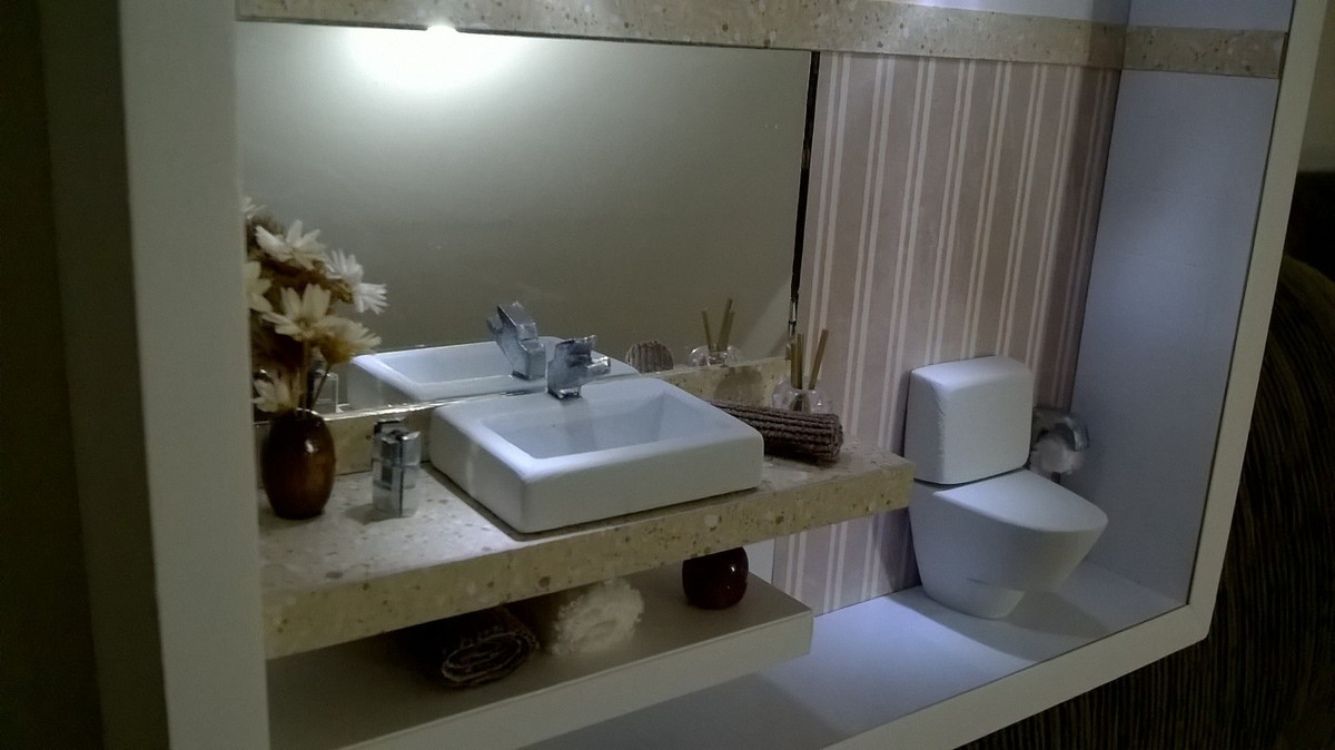 Cen rio lavabo moderno com leds schimidt artes elo7 for Compra de lavabos