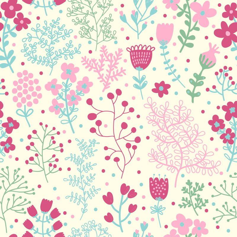 Papel de Parede Floral Colorido  QCola  Elo7