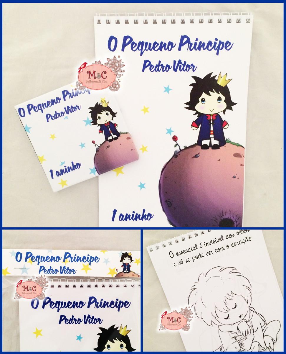 Kit De Colorir Pequeno Principe Moreno No Elo7 Mimos Co