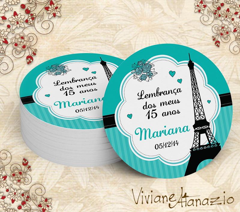 Aparador De Madeira Branco ~ Adesivo Redondo Paris 00260 Viviane Atanazio Elo7