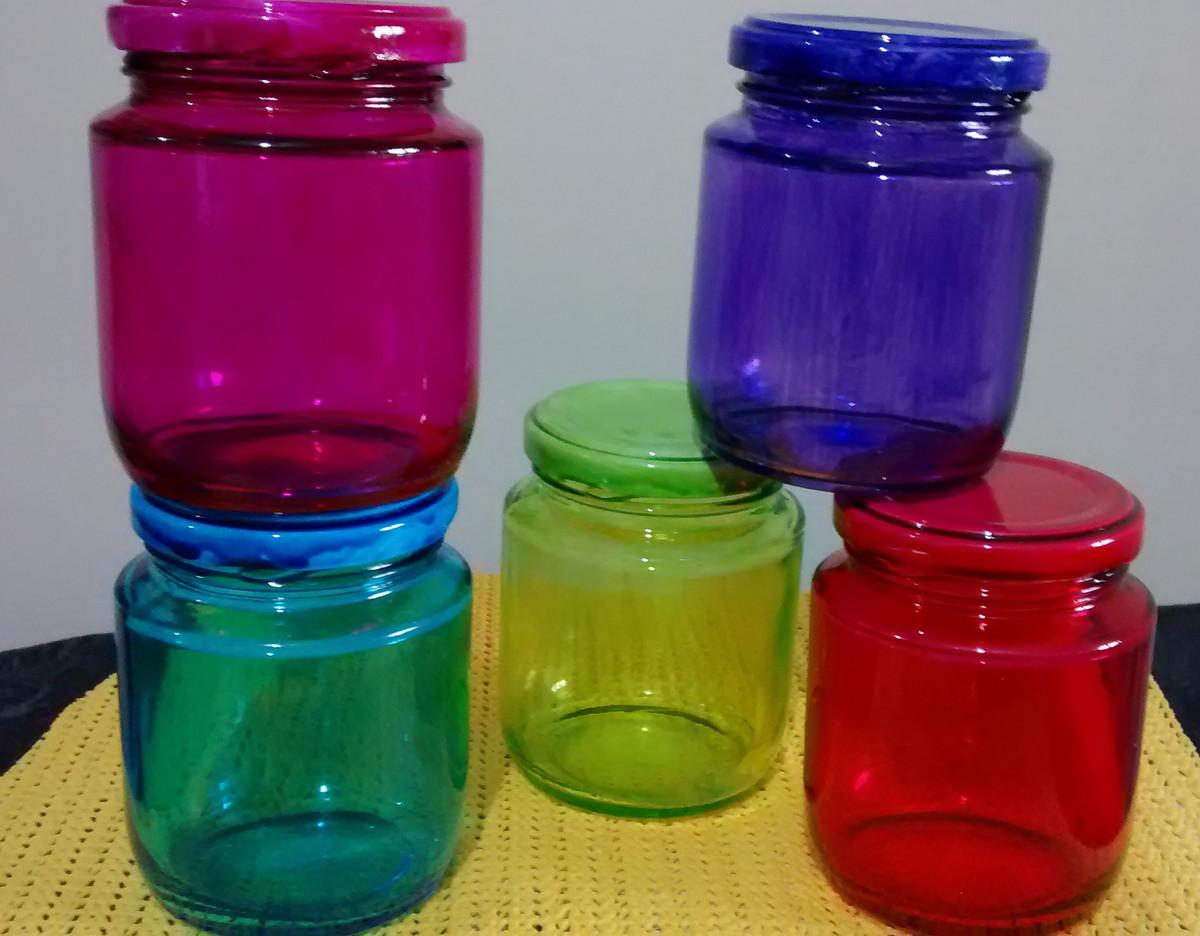 Pote em vidro para decoraç u00e3o com tampa no Elo7 Atelier Eliana Luz (5A67FD) -> Decoracao Com Tampa De Vidro