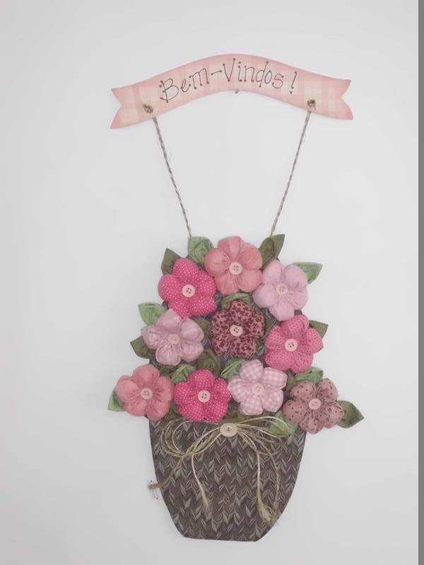 Enfeite De Vaso ~ Vaso de Flores Enfeite de Porta Teteca Bonecas Elo7