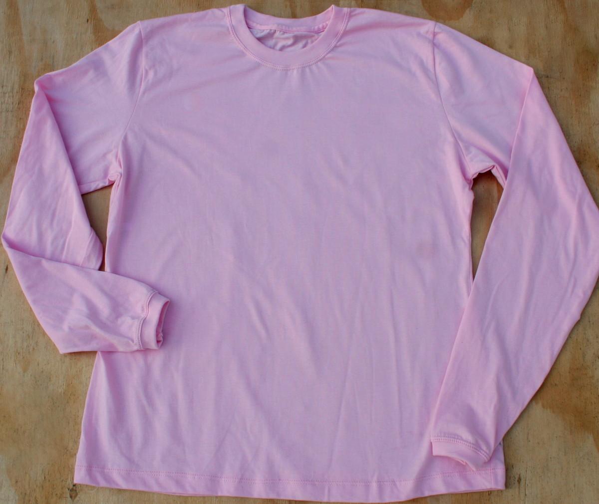 b3953af530 Camiseta manga longa 100% algodão no Elo7