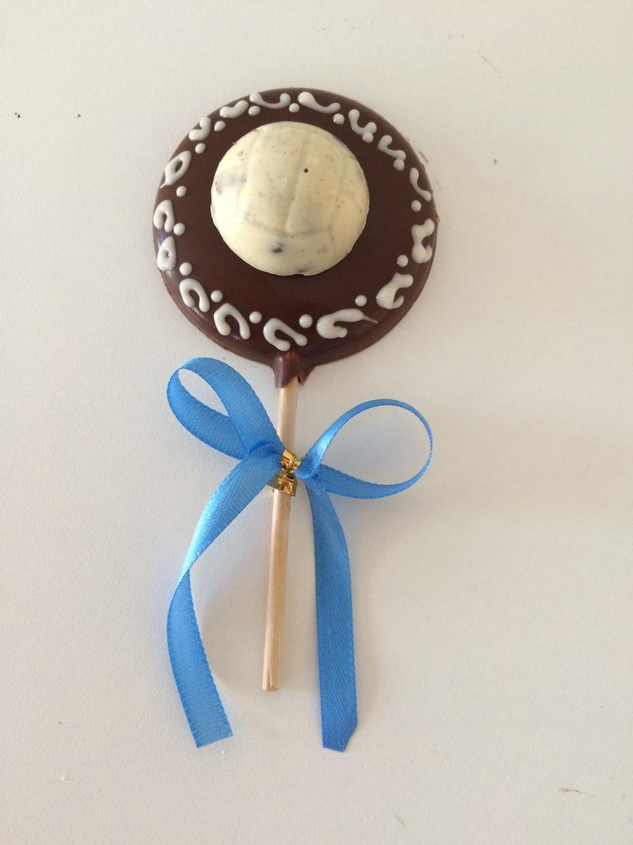 50d745ea1a Pirulito Chocolate Bola de futebol no Elo7