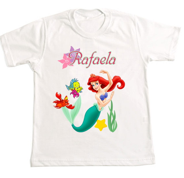7736e6201 Camiseta Personalizada Pequena Sereia 1 no Elo7