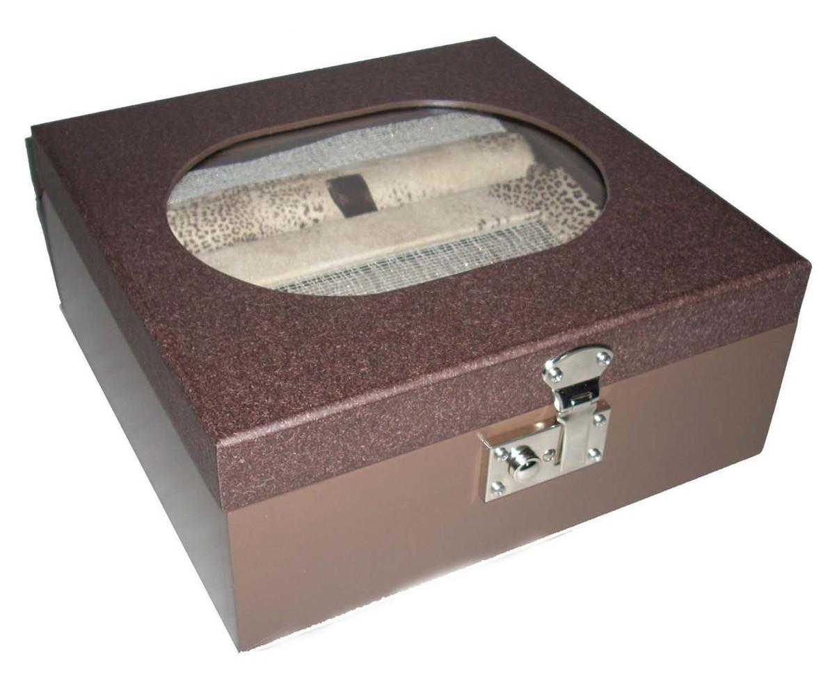 48d5669f891 Caixa para jóias e brincos Chocolate no Elo7