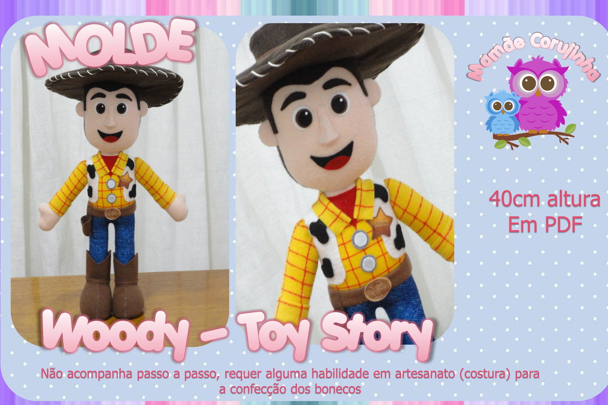 Molde do Woody - Toy Story no Elo7  5bf5a4f1578