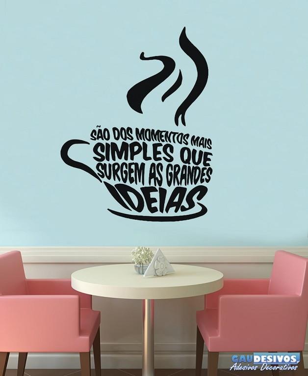 Aparador Azul Tifany ~ Adesivo Decorativo Frases xícara de cafe no Elo7 GAUDESIVOS (5B0BCB)