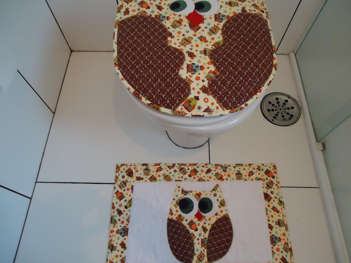 Buffet Aparador Adega ~ kit banheiro coruja no Elo7 yumijun artesanato (5B1
