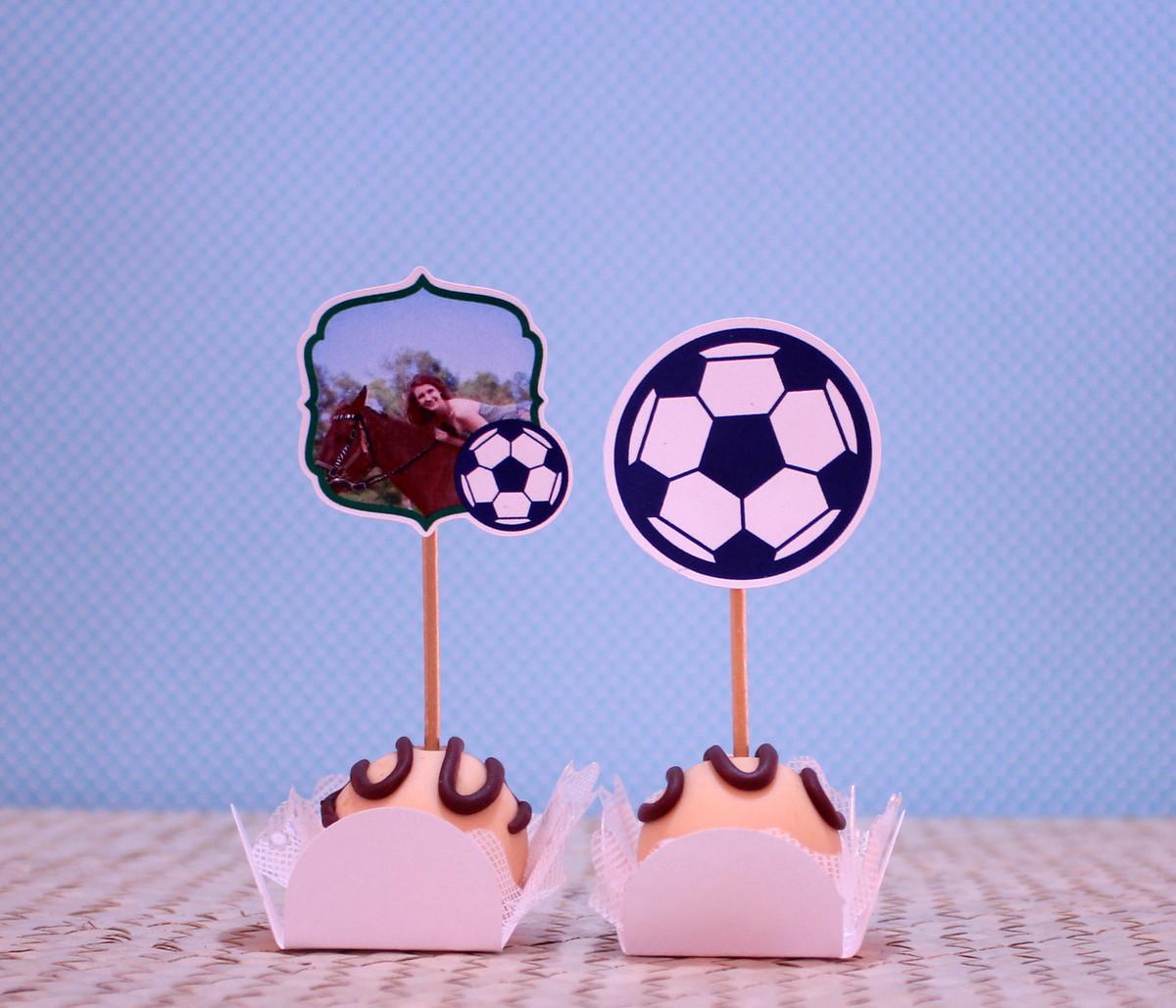 Kit-Topper para doces com foto- Brasil bola futebol no Elo7  e82abdf5c277c