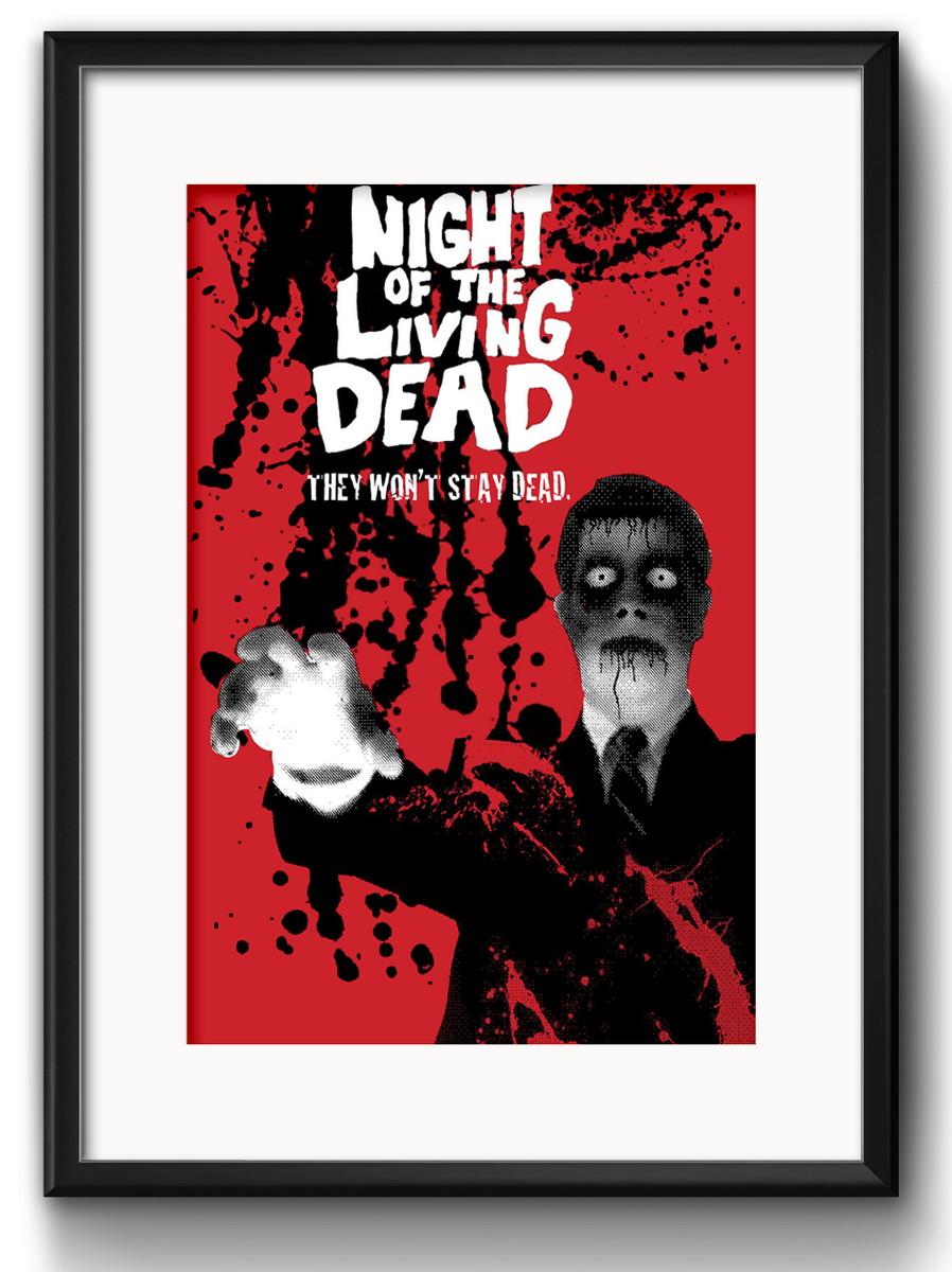 Filme Mortos Vivos in quadro filme mortos vivos com paspatur | red rose shop | elo7