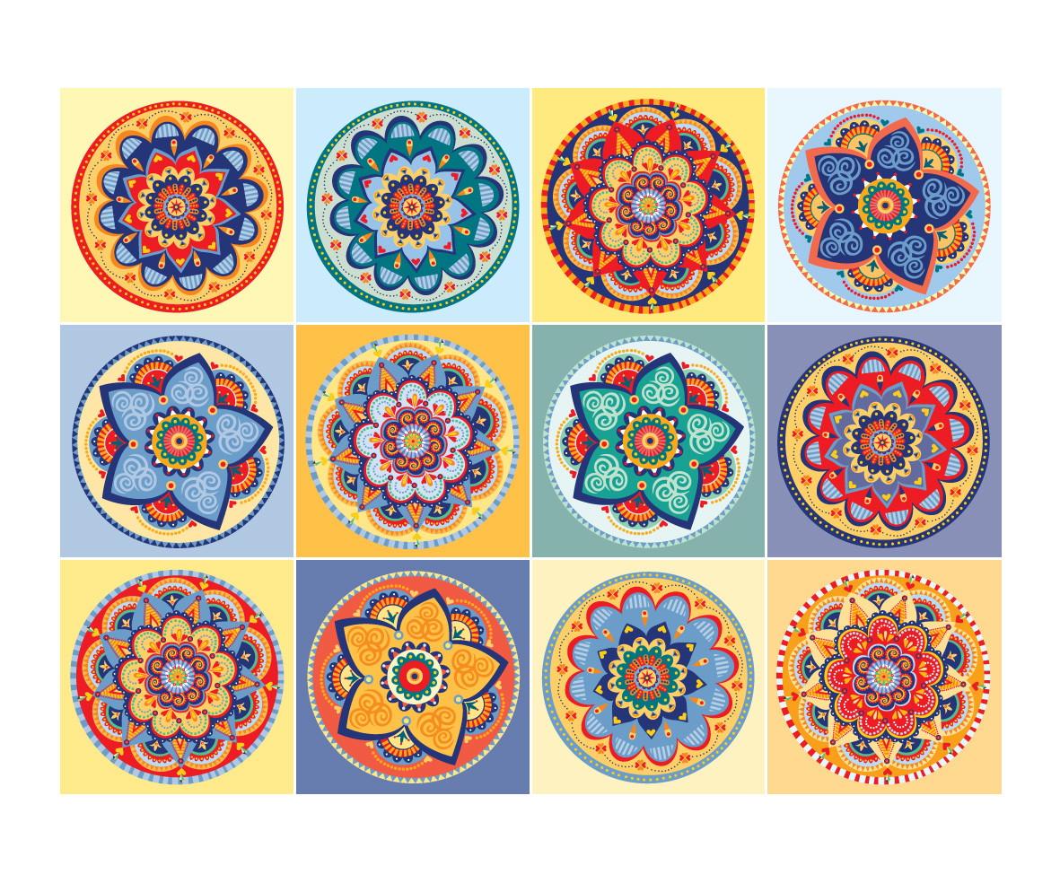 Adesivo Delineador Agustin ~ Adesivos Mandala para Azulejo 15 x 15 cm no Elo7 Atelier Solar (5B8F6A)