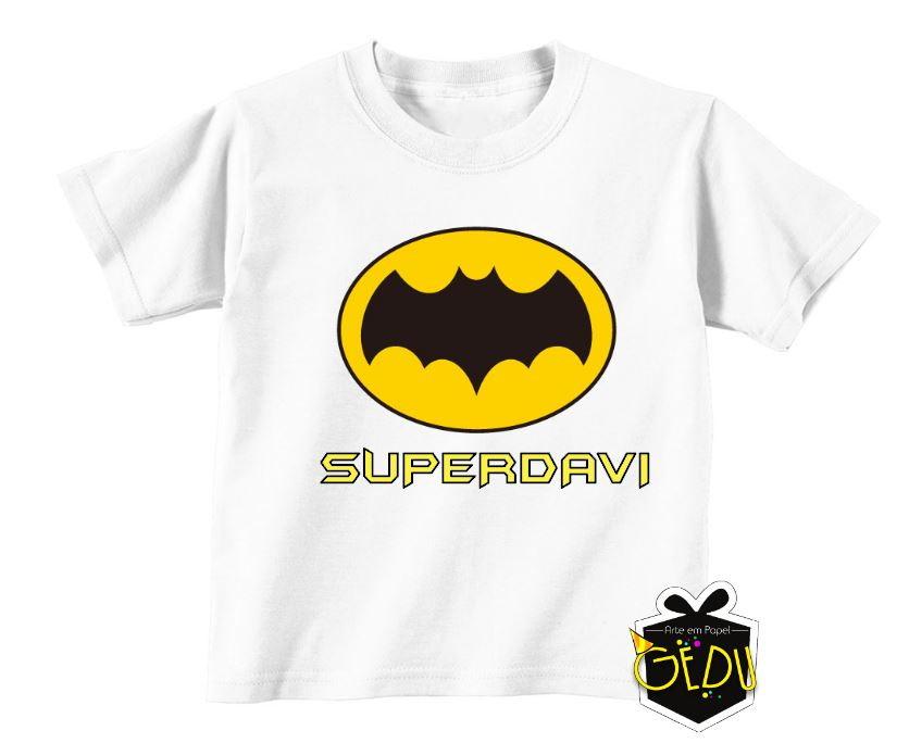 57c742a70b17b Camiseta Personalizada Batman no Elo7