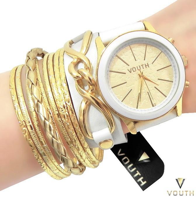 0475ac4f51e Relógio Feminino Bracelete Branco no Elo7