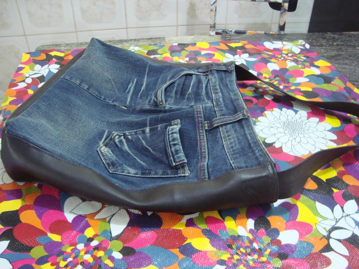 Bolsa De Tecido E Jeans : Bolsa feitas de cal?a jeans puffs da lane elo