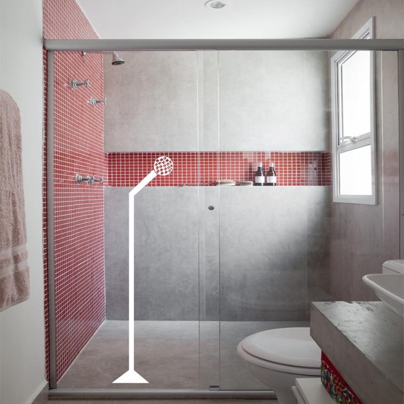 Adesivo Microfone no chuveiro  Adesivos com 3 anos de garantia  Elo7 -> Adesivo Para Decoracao De Banheiro