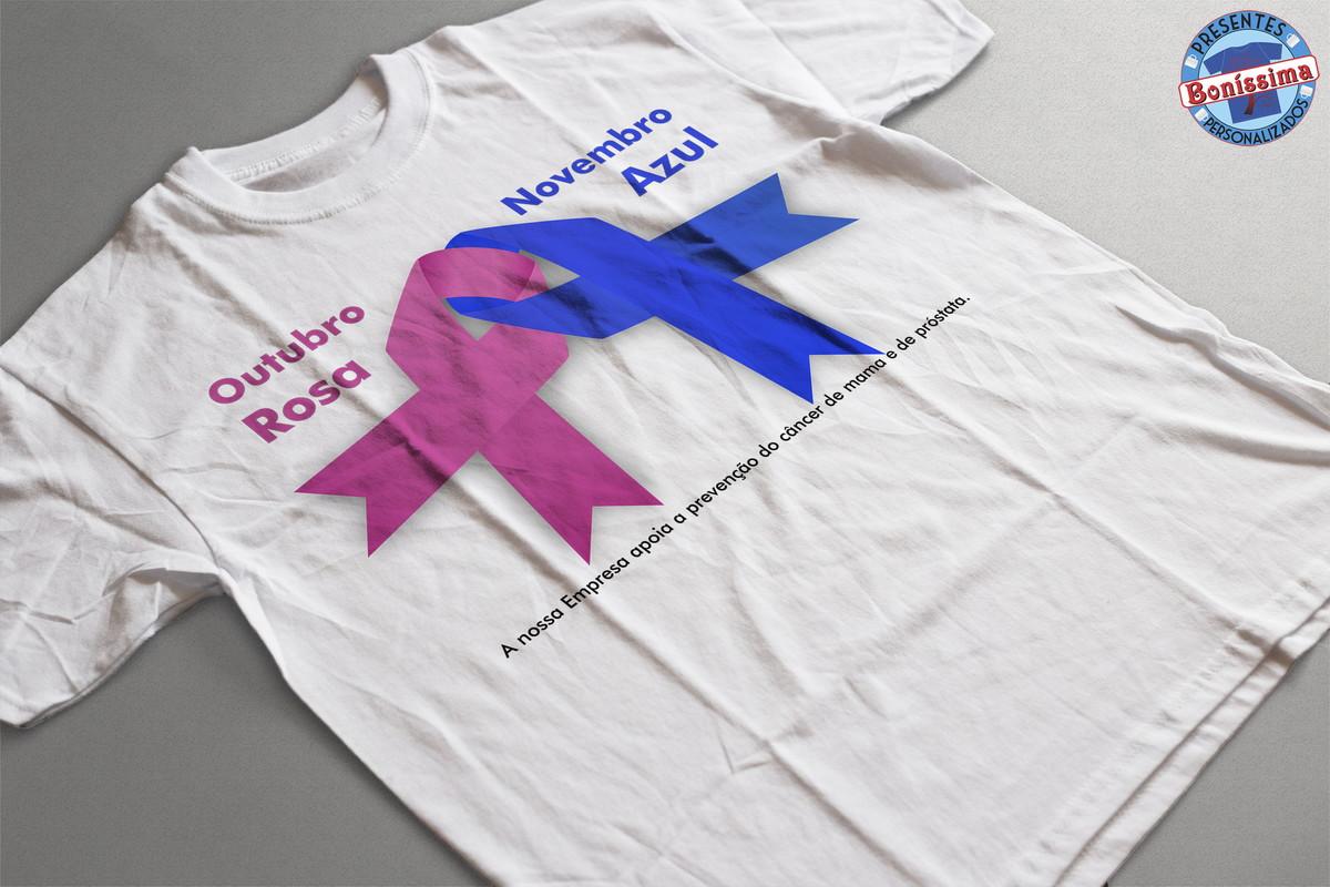 Camiseta Outubro rosa e novembro azul no Elo7 Boníssima Presentes Personalizados (5C262D) -> Decoração De Outubro Rosa E Novembro Azul