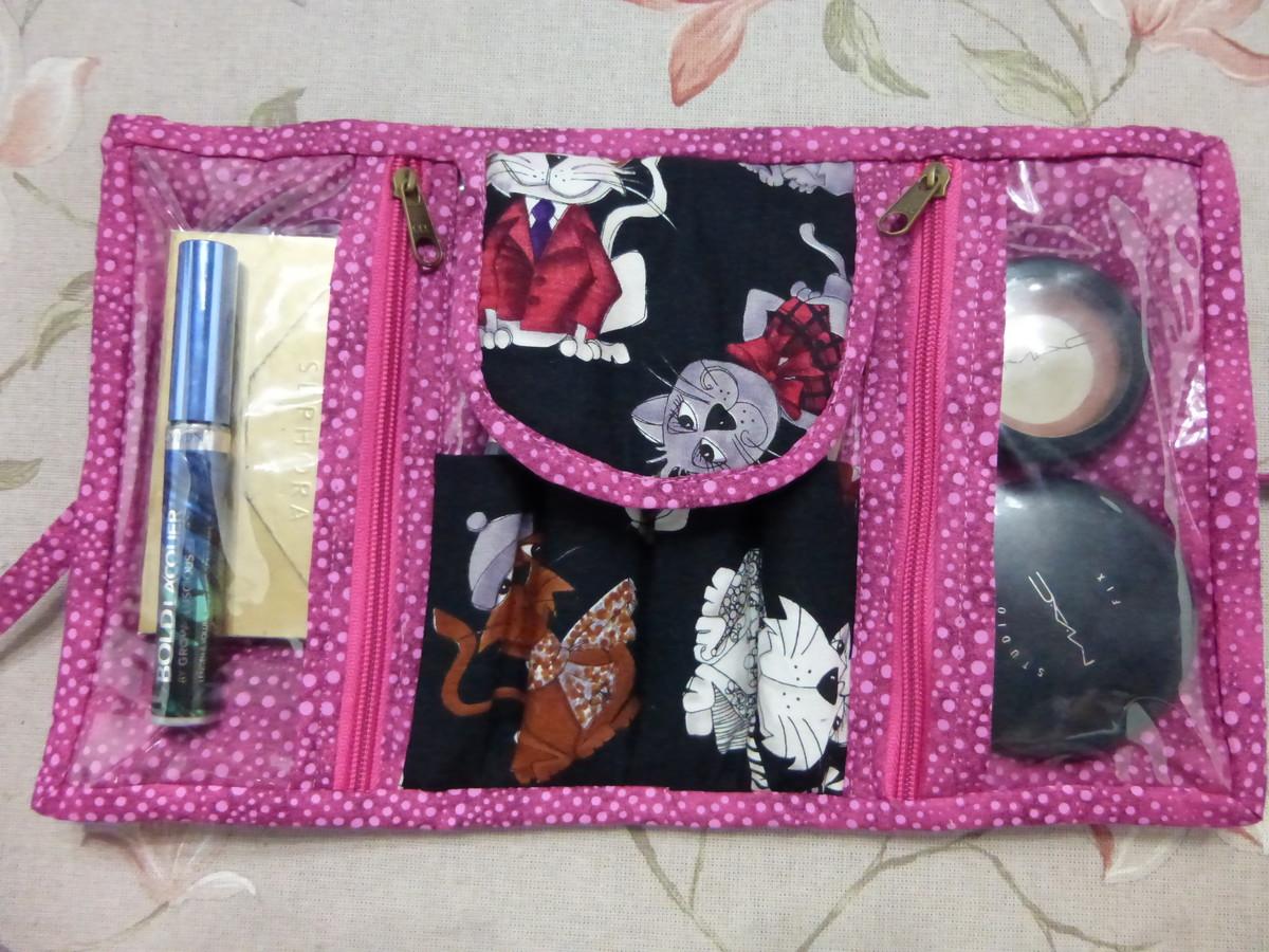 Porta maquiagem e organizador de bolsa no elo7 teco di - Organizador de bolsas de plastico ...