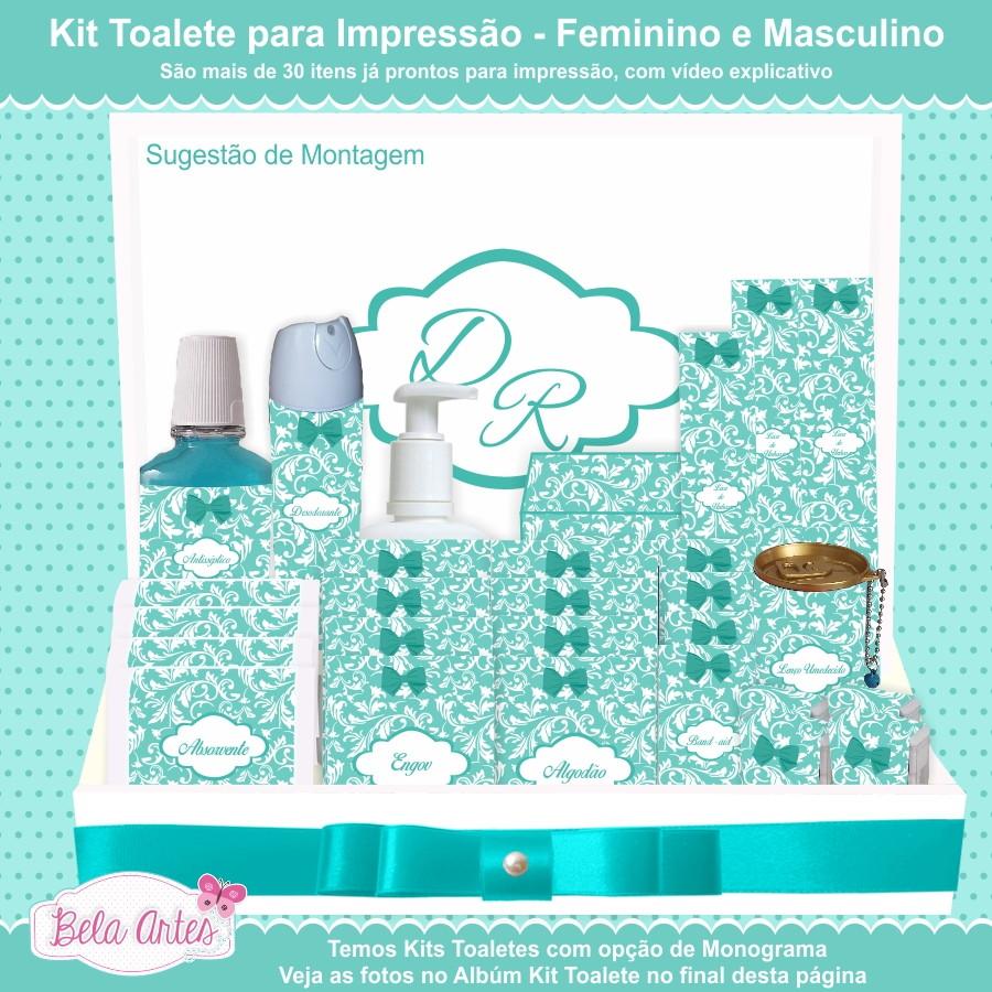 Kit Toalete Para Impressão-Sem Monograma no Elo7   Bela Artes Design ... 98f12b5709